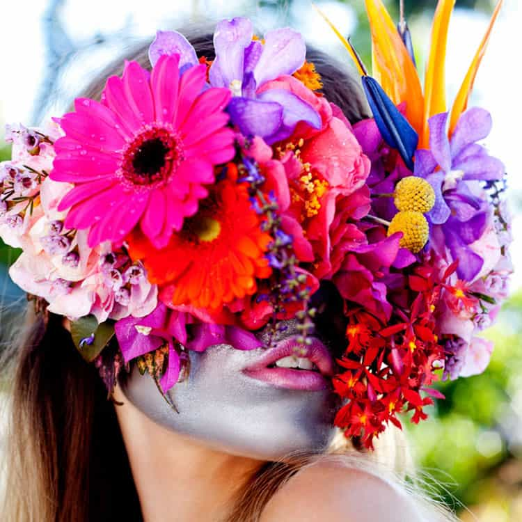 Floral-Art-Design-Fresh-Flower-Mask