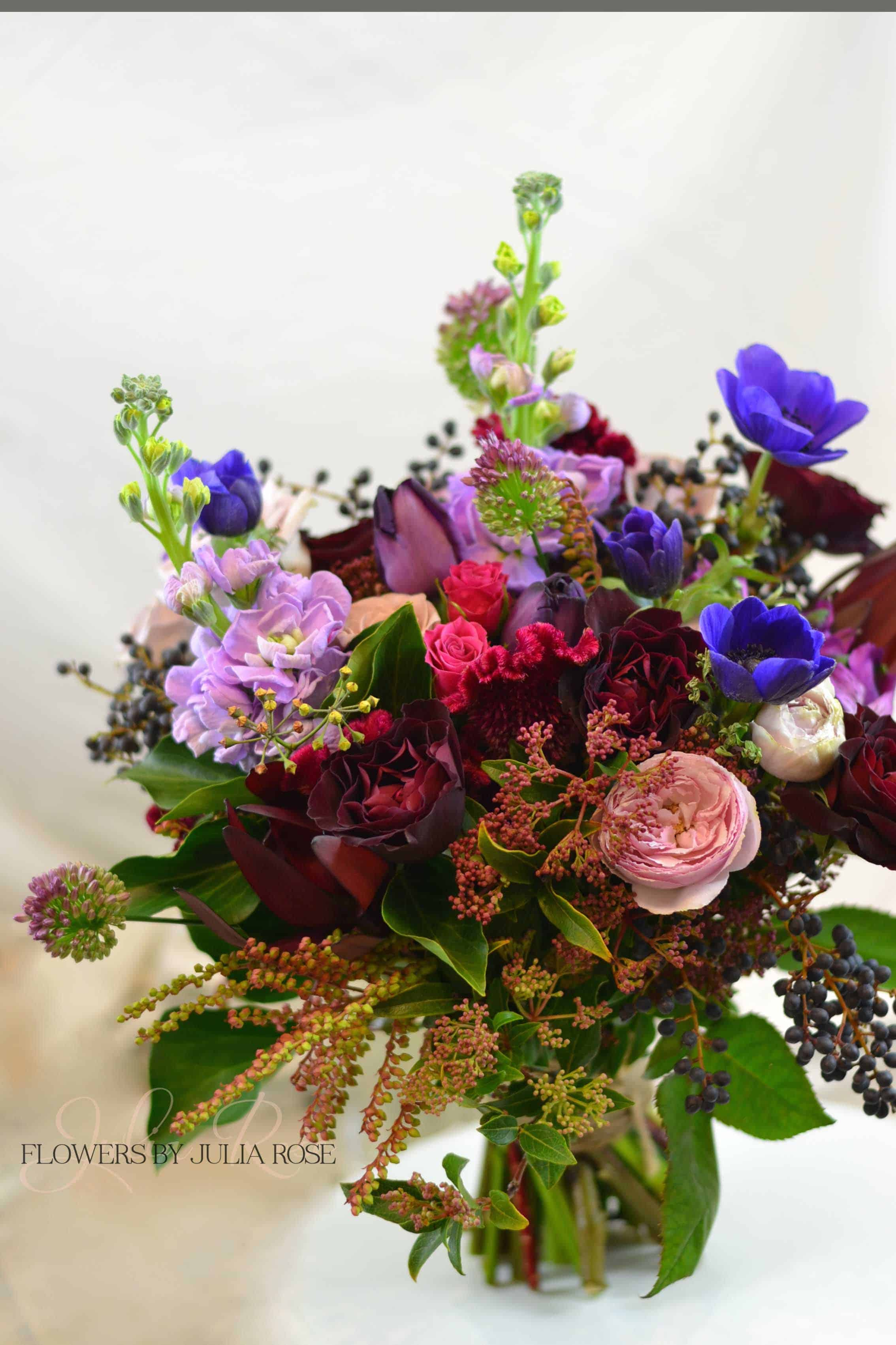 Burgundy deep red lavender blue wedding bouquet flowers by burgundy deep red lavender blue wedding bouquet flowers by julia rose izmirmasajfo Image collections