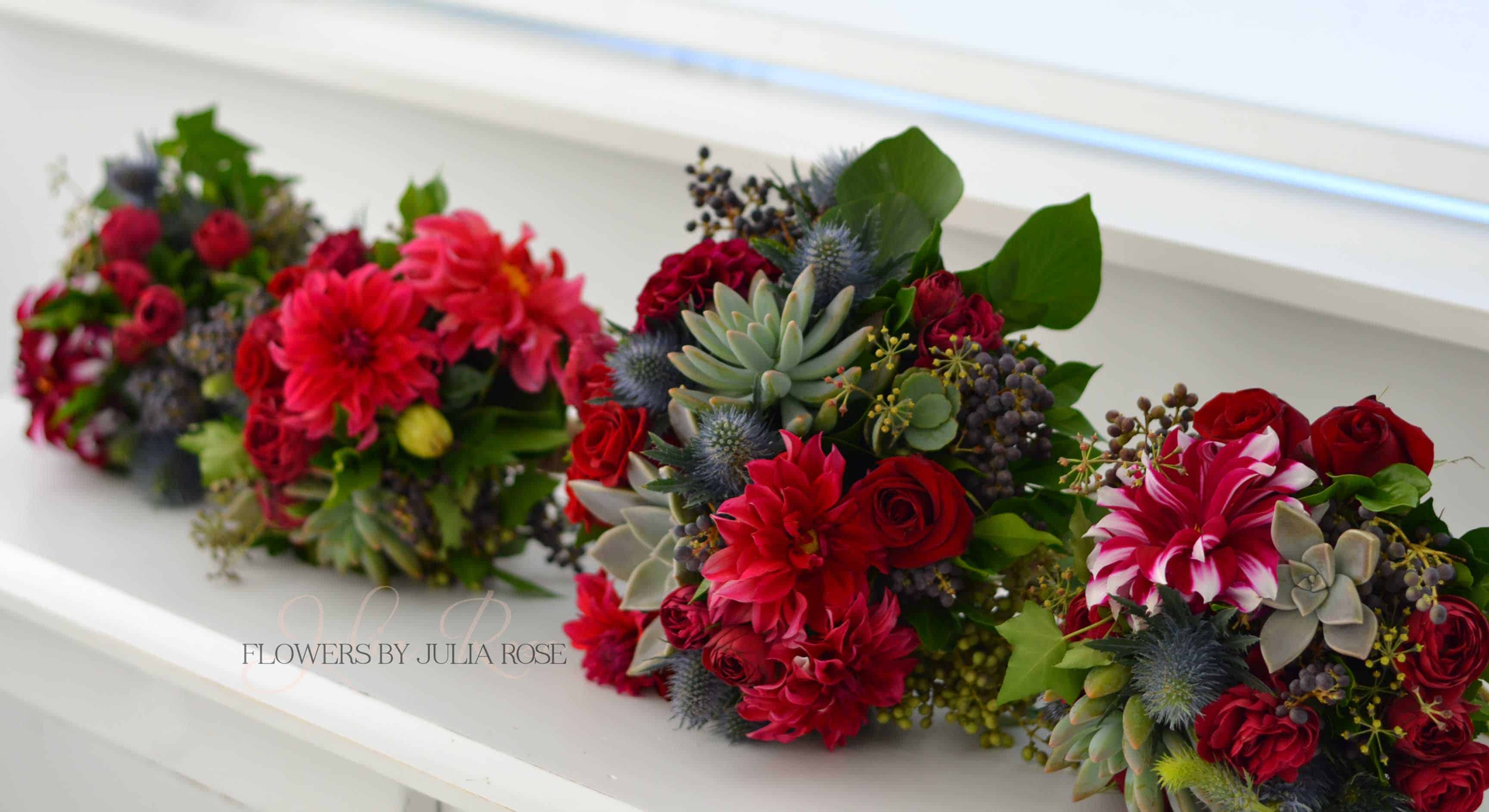 Deep Burgubdy Red And Wild Bridal Bouquet Wedding Flowers By Julia
