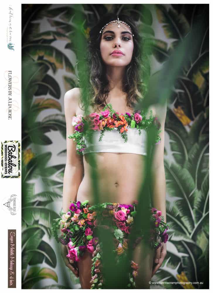 Fresh Floral Bikini - Flowers by Julia Rose - low res - fashion tropical