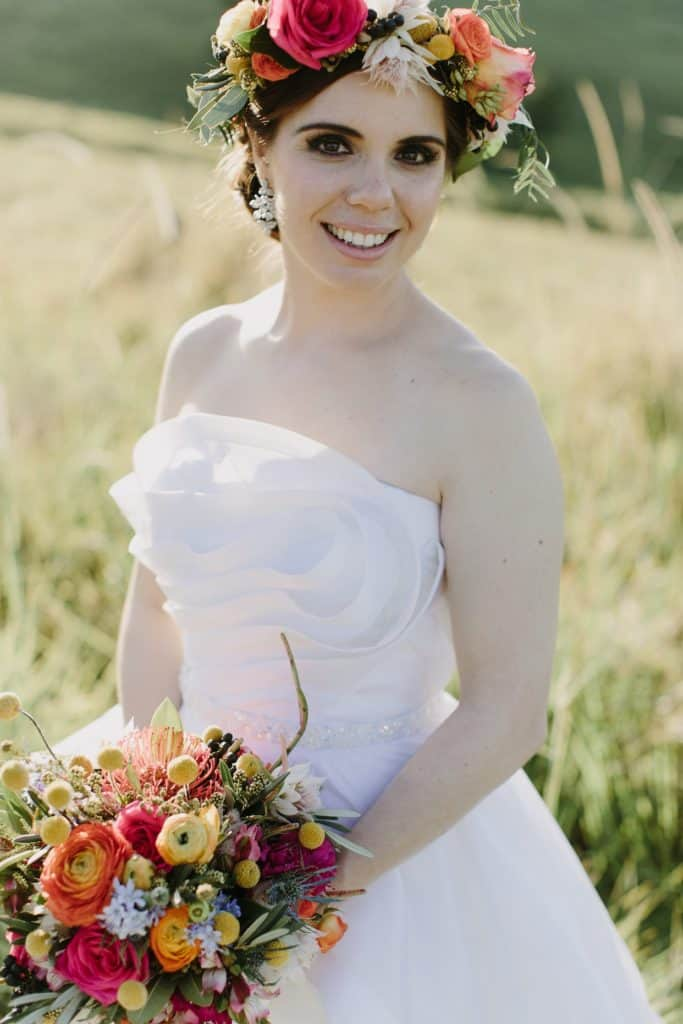 Flowers By Julia Rose - Harvest Newrybar Wedding - Bride