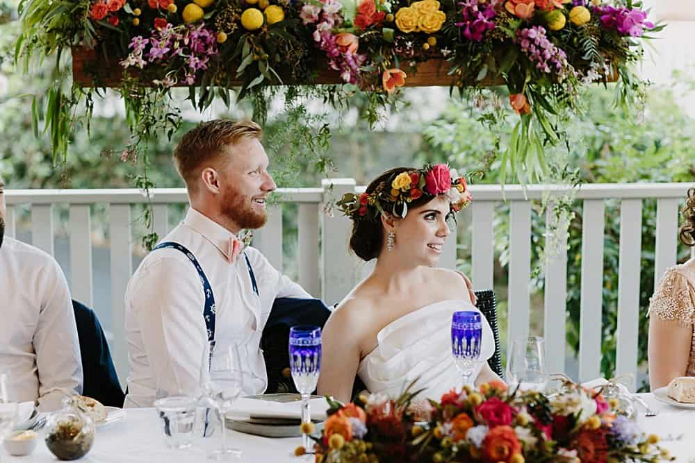 Flowers By Julia Rose - Harvest Newrybar Wedding - Bride & Groom Install