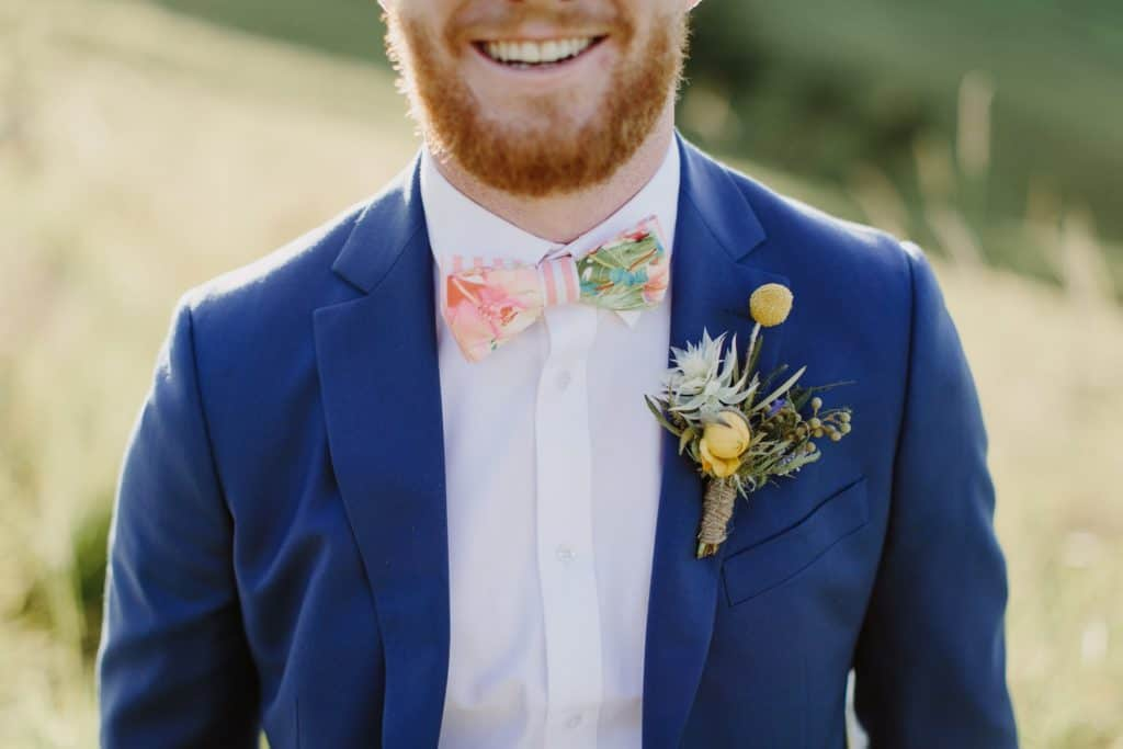 Flowers By Julia Rose - Harvest Newrybar Wedding - Groom buttonhole