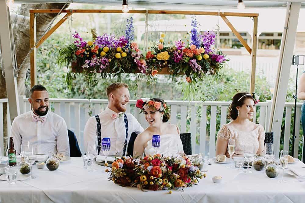 Flowers By Julia Rose - Harvest Newrybar Wedding -bride & groom install & bouquet