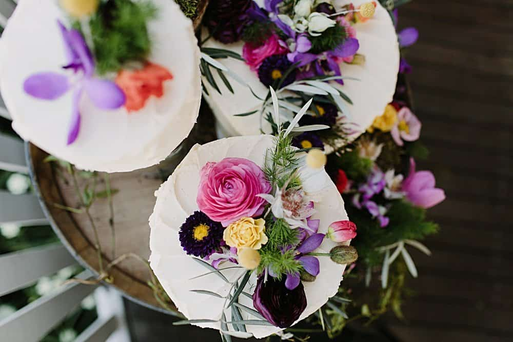 Flowers By Julia Rose - Harvest Newrybar Wedding - cake top veiw