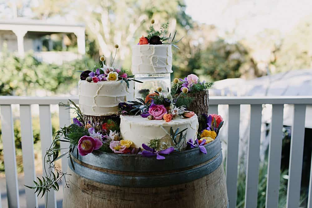 Flowers By Julia Rose - Harvest Newrybar Wedding -cake