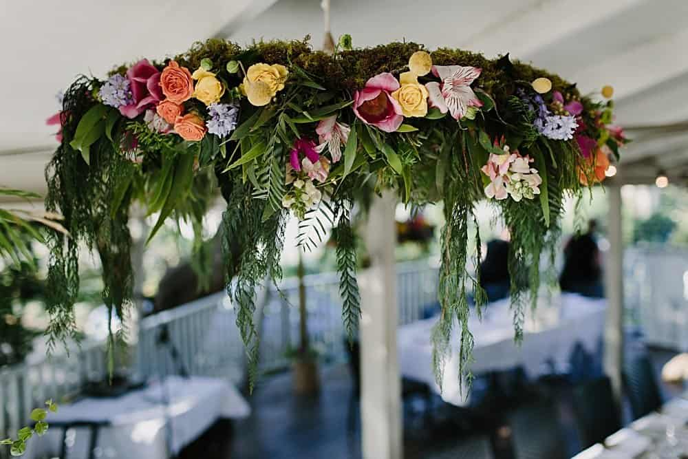 Flowers By Julia Rose - Harvest Newrybar Wedding -chandelier
