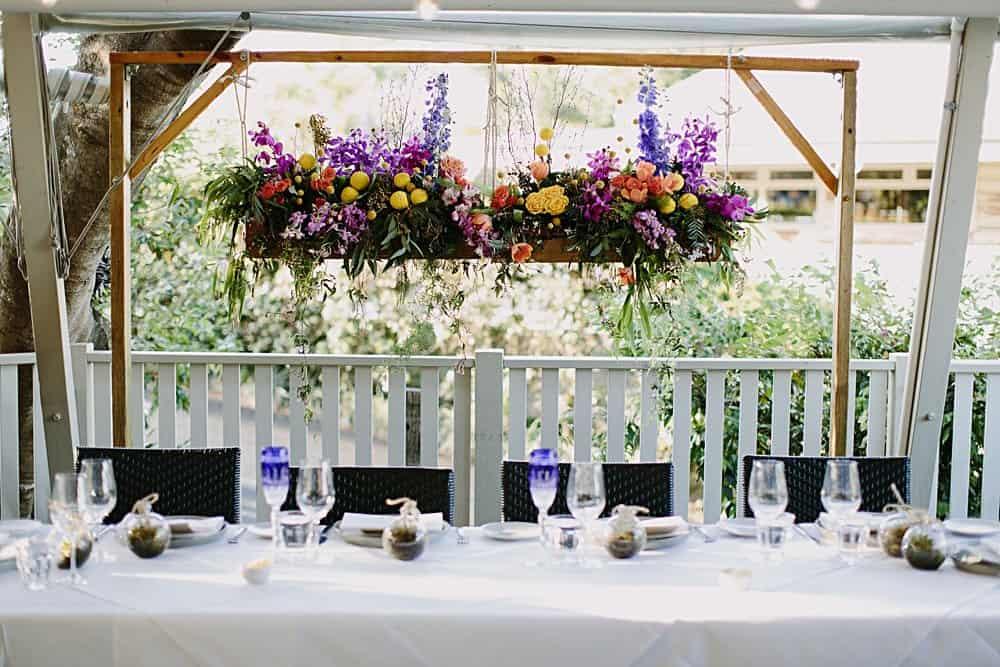 Flowers By Julia Rose - Harvest Newrybar Wedding -installation B&G table