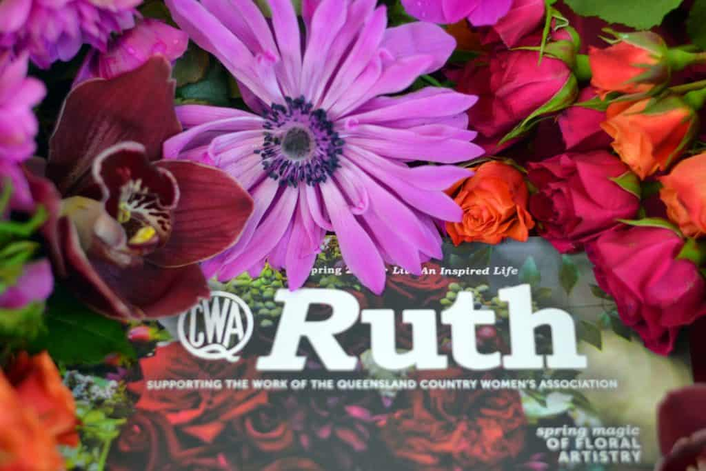 RUTH magazine - FLOWERS BY JULIA ROSE - CWA - Spring edtion - COVER
