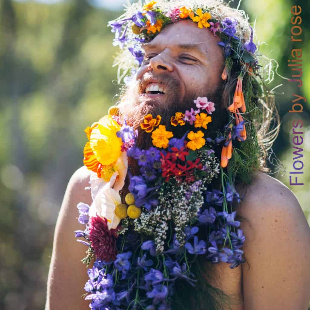 tommy-fresh-flower-beard-magestic-laugh by julia Rose