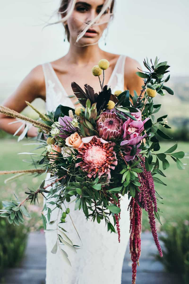 Designer Organic Wedding Bouquet by Julia Rose