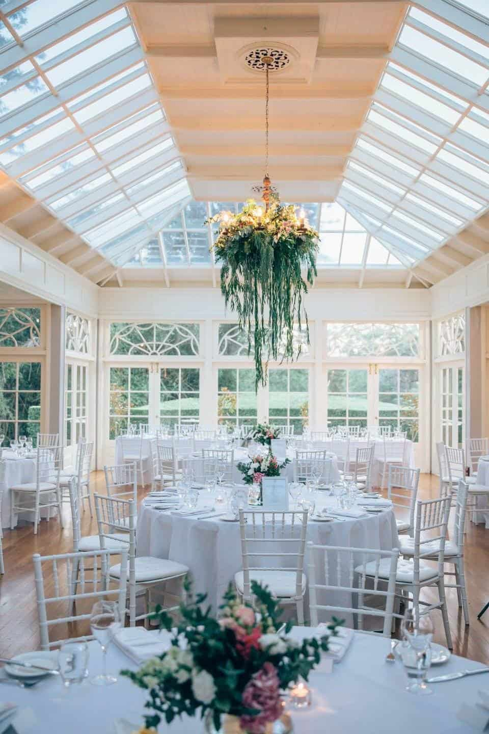 Suspended installation - Chandelier - Wedding Bouquet - Flowers by Julia Rose