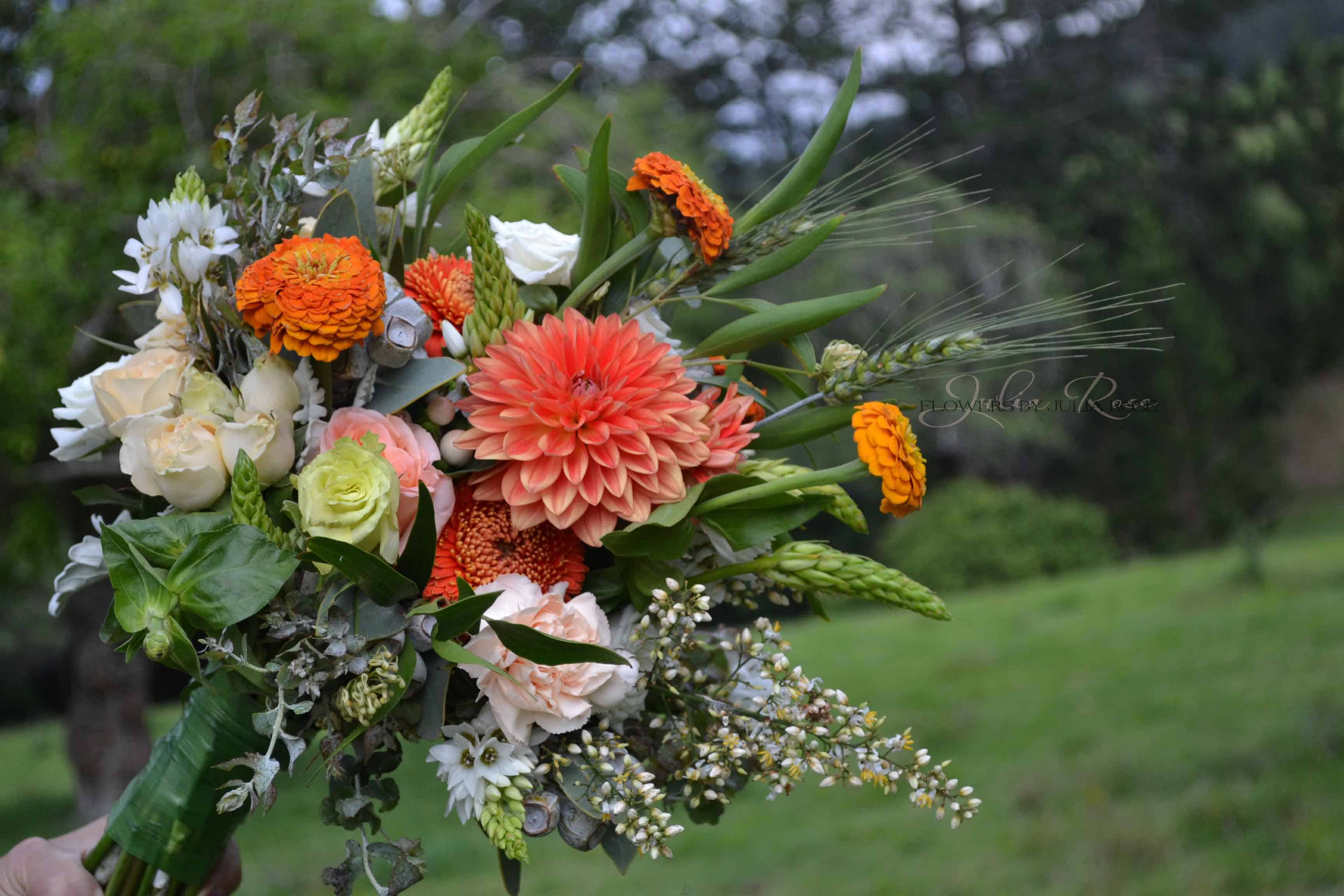 Bright Indian Wedding Bouoquet Flowers By Julia Rose Modern