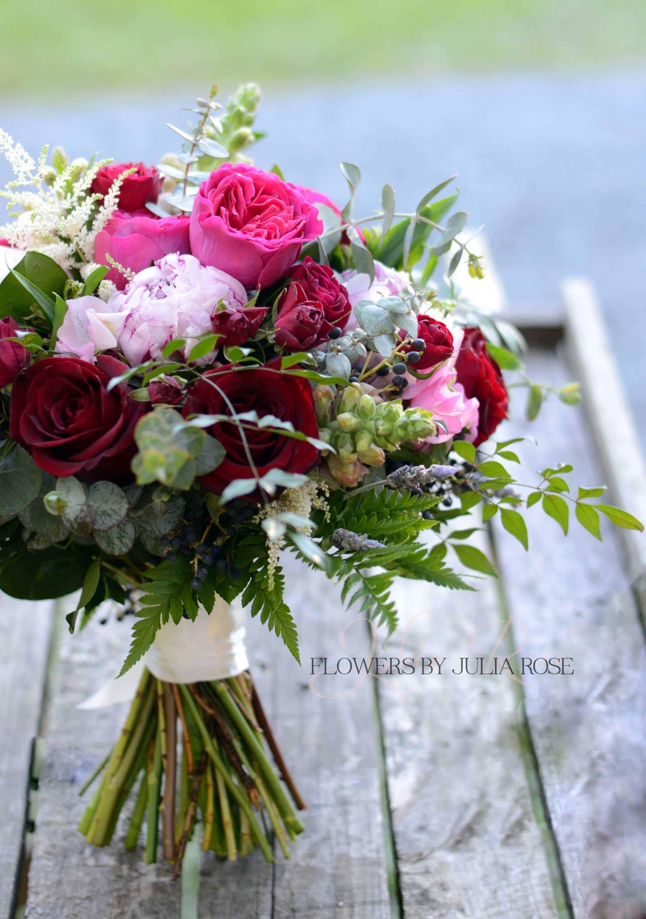 Deep reds burgundy pink mix wedding bouquet flowers by julia rose deep reds burgundy pink mix wedding bouquet flowers by julia rose izmirmasajfo