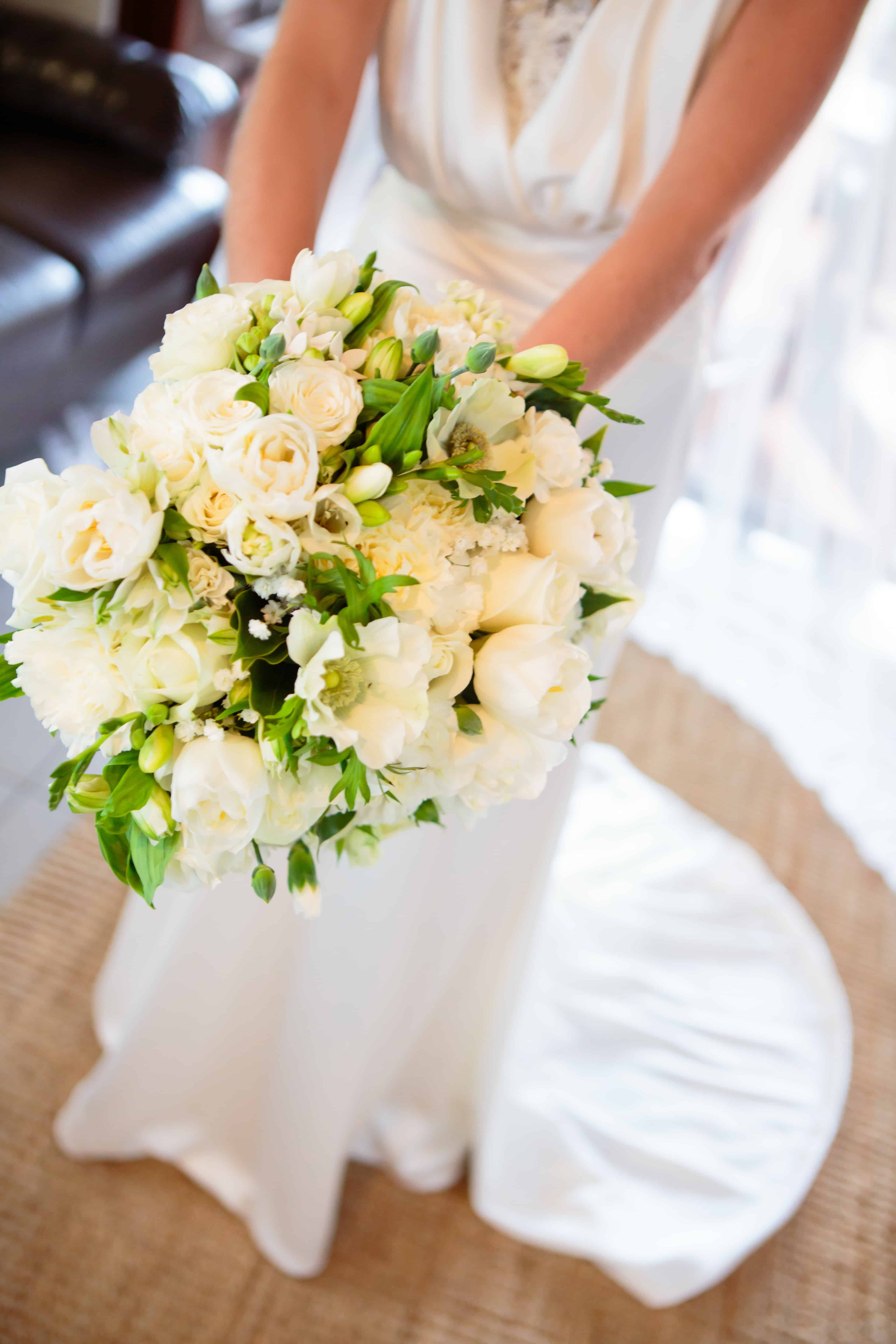 White And Green Wedding Luxe Wedding Bouquet Byron Bay Cafe